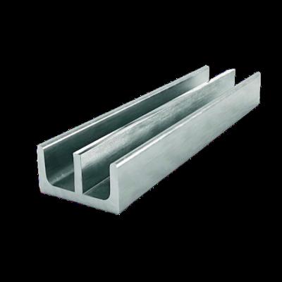 Н-образный алюминиевый профиль (двутавр) 122x100х5x6 мм АД31Т1 1
